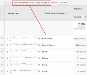 Google Analytics - adding a secondary dimension